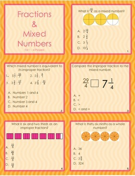 Fractions and Mixed Numbers Game