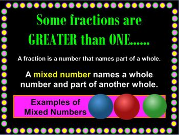 Fractions and Mixed Numbers Mimio Lesson
