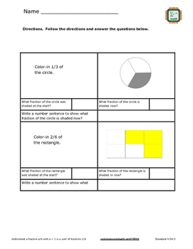 Fractions and Mixed Numbers - NCCS Math 4.NF.3