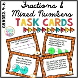 Fractions and Mixed Numbers Task Cards