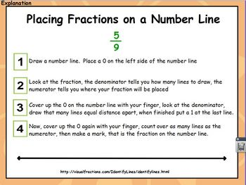 Fractions and Mixed Numbers on a Number Line