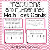 Fractions and Number Lines Task Cards | Fractions and Number Lines Math Center