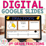 Fractions and Number Lines for Google Classroom