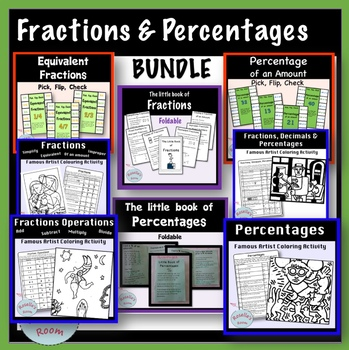 Fractions and Percentages - Activity Bundle
