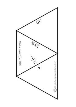 Fractions and Percentages Tarsia Puzzle