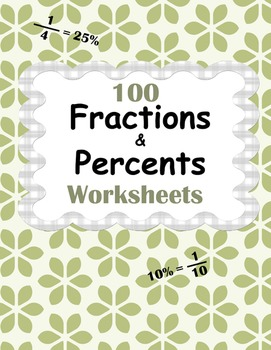 Fractions and Percents Worksheets