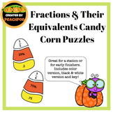 Fractions and Their Equivalents Candy Corn Puzzles