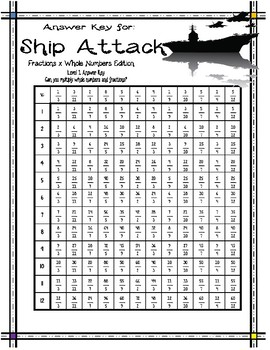 Fractions and Whole Numbers Ship Attack