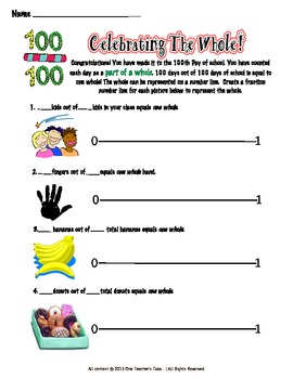 Fractions and the 100th Day of School