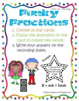 Fractions are Fun - 3rd centers, worksheet & activities