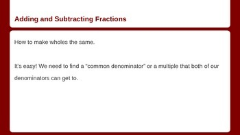 Fractions are your Friends