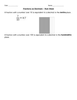 Fractions as Decimals