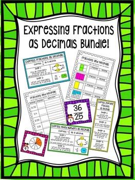Fractions as Decimals Bundle!