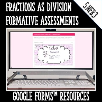 Fractions as Division Digital Task Cards 5.NF.3