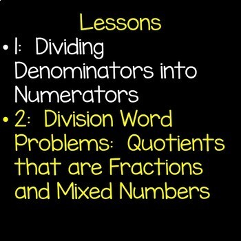 Fractions as Division Math Unit 5th Grade Interactive Powerpoint Common Core