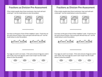 Fractions as Division Pack – Distance Learning