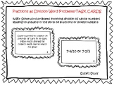 Fractions as Division Word Problems- TASK CARDS