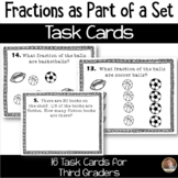 Fractions as Part of a Set Task Cards: Set of 16 for Grade 3