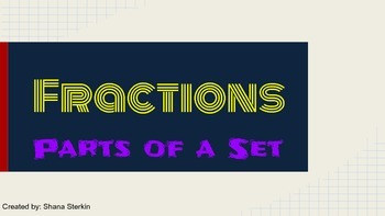 Fractions as Parts of a Set