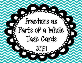 Fractions as Parts of a Whole Task Cards 3.NF.1
