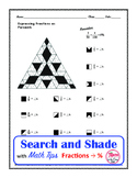 Fractions as Percents Search and Shade