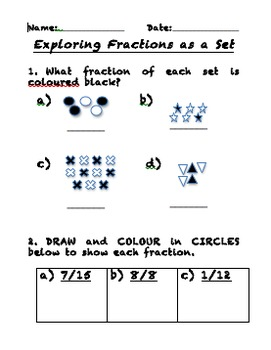 Fractions as Sets Work Page
