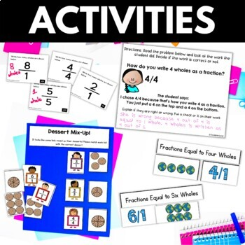 Fractions as Whole Numbers - Fraction Worksheets Activities Games