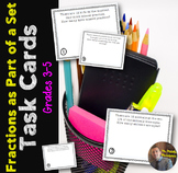 Fractions as a Part of a Set: Word Problem Task Cards for Grades 3-5