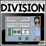 Fractions as a Representation of Division | Boom Cards | D