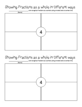 Fractions as a Whole in Different ways