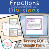 Fractions as Division Problems Task Cards 5.nf.3