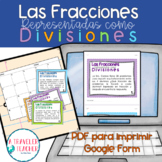 Fractions as division problems Spanish CCSS 5.nf.3 (fracci