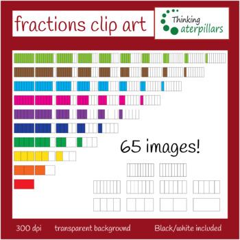 Fractions clip art (set 1)