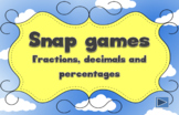 Fractions, decimals and percentages - fun interactive whit