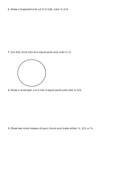 Fractions for 2nd Grade