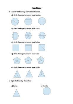 Fractions for 3rd Grade