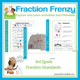 3rd Grade Fractions: Fraction Frenzy (Common Core Aligned)