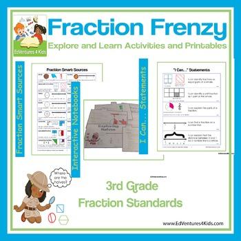 3rd Grade Fractions: Fraction Frenzy (Common Core Aligned)