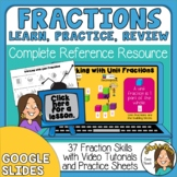 Fractions for 4th, 5th, 6th Grade  Google Slides, video le