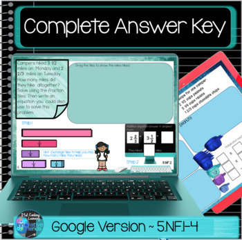 Fraction Problems for 5th Grade Google Classroom