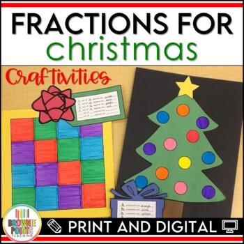 Fractions for Christmas - Craftivities