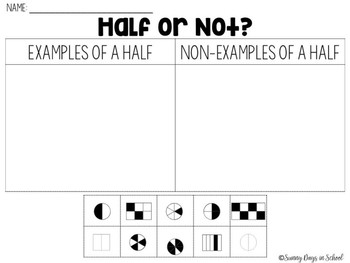 Fractions for Days (including halves, fourths, and eighths)
