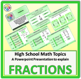 Fractions for High School Math