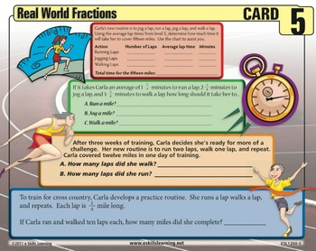 Fractions for the Real World Work Cards
