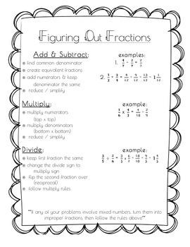 Fractions handout