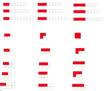 Fractions - images and numerical equivalent - clipart collection - COMBO