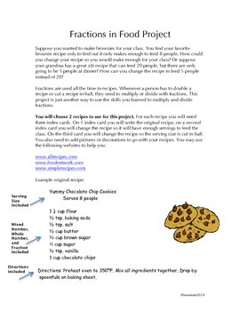 Fractions in food recipe book multiplying and dividing fractions forumfinder Images