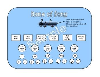 Fractions in Music Bulletin Board Set