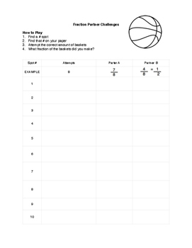 Fractions in Physical Education: Math Challenge