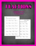 Fractions in Simplest Form  Worksheet and Answer Guide